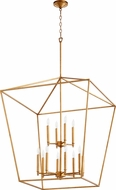 Quorum 604-12-74 Gabriel Modern Gold Leaf Foyer Lighting Fixture