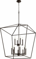 Quorum 604-12-86 Gabriel Contemporary Oiled Bronze Entryway Light Fixture