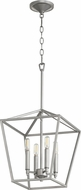 Quorum 604-4-64 Gabriel Modern Classic Nickel Foyer Lighting