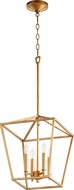 Quorum 604-4-74 Gabriel Modern Gold Leaf Foyer Lighting Fixture
