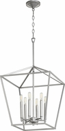 Quorum 604-6-64 Gabriel Modern Classic Nickel Foyer Lighting