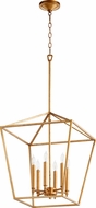 Quorum 604-6-74 Gabriel Modern Gold Leaf Foyer Lighting Fixture