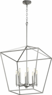 Quorum 604-8-64 Gabriel Modern Classic Nickel Foyer Lighting