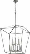 Quorum 604-9-64 Gabriel Modern Classic Nickel Foyer Lighting