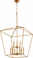 Quorum 604-9-74 Gabriel Contemporary Gold Leaf Foyer Lighting Fixture