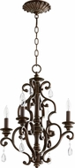 Quorum 6073-4-39 San Miguel Vintage Copper Mini Chandelier Lighting