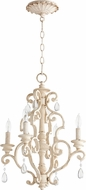 Quorum 6073-4-70 San Miguel Persian White Mini Lighting Chandelier