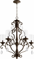Quorum 6073-5-39 San Miguel Vintage Copper Chandelier Lamp
