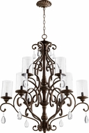 Quorum 6073-9-39 San Miguel Vintage Copper Ceiling Chandelier