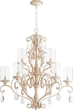 Quorum 6073-9-70 San Miguel Persian White Hanging Chandelier