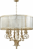 Quorum 6081-8-60 Champlain Traditional Aged Silver Leaf Drum Hanging Pendant Light