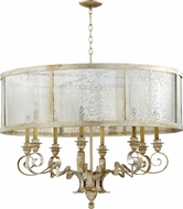 Quorum 6082-8-60 Champlain Traditional Aged Silver Leaf Drum Pendant Hanging Light