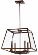 Quorum 6104-4-86 Kaufmann Oiled Bronze Foyer Lighting
