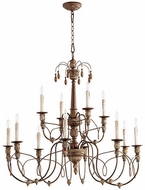 Quorum 6106-12-39 Salento Vintage Copper Hanging Chandelier