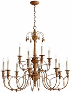 Quorum 6106-12-94 Salento French Umber Chandelier Lighting