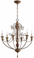 Quorum 6106-6-39 Salento Vintage Copper Lighting Chandelier