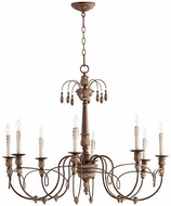 Quorum 6106-8-39 Salento Vintage Copper Ceiling Chandelier