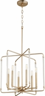 Quorum 6114-6-80 Optic Contemporary Aged Brass Foyer Lighting