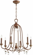 Quorum 6144-6-39 Venice Traditional Vintage Copper Chandelier Lighting