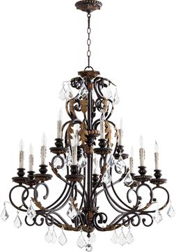 Quorum 6157-12-44 Rio Salado Toasted Sienna With Mystic Silver Chandelier Light