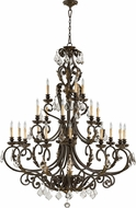Quorum 6157-21-44 Rio Salado Toasted Sienna With Mystic Silver Ceiling Chandelier