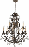 Quorum 6157-9-44 Rio Salado Toasted Sienna With Mystic Silver Lighting Chandelier