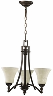 Quorum 6177-3-86 Aspen Oiled Bronze Mini Chandelier Light
