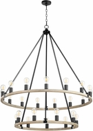 Quorum 64-24-6941 Paxton Noir with Weathered Oak 42 Ceiling Chandelier