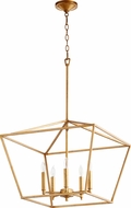 Quorum 644-5-74 Gabriel Modern Gold Leaf Foyer Lighting Fixture