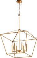 Quorum 644-6-74 Gabriel Modern Gold Leaf Foyer Lighting Fixture