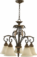 Quorum 6457-5-44 Rio Salado Toasted Sienna With Mystic Silver Hanging Pendant Lighting