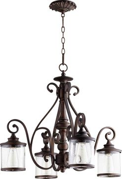 Quorum 6473-4-39 San Miguel Vintage Copper Hanging Pendant Light