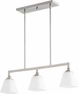 Quorum 6523-3-65 Wright Modern Satin Nickel Island Lighting