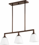 Quorum 6523-3-86 Wright Contemporary Oiled Bronze Kitchen Island Lighting