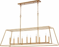 Quorum 654-10-74 Gabriel Contemporary Gold Leaf Kitchen Island Light Fixture