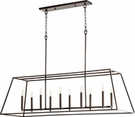 Quorum 654-10-86 Gabriel Modern Oiled Bronze Island Lighting