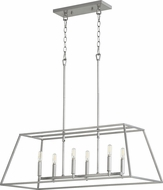 Quorum 654-6-64 Gabriel Contemporary Classic Nickel Kitchen Island Lighting