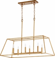 Quorum 654-6-74 Gabriel Contemporary Gold Leaf Island Light Fixture