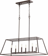 Quorum 654-6-86 Gabriel Modern Oiled Bronze Kitchen Island Light Fixture