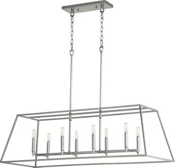 Quorum 654-8-64 Gabriel Contemporary Classic Nickel Island Lighting