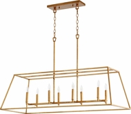Quorum 654-8-74 Gabriel Contemporary Gold Leaf Kitchen Island Light