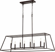 Quorum 654-8-86 Gabriel Modern Oiled Bronze Island Light Fixture