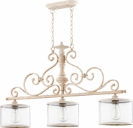 Quorum 6573-3-70 San Miguel Persian White Kitchen Island Lighting