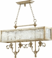 Quorum 6581-4-60 Champlain Traditional Aged Silver Leaf Kitchen Island Light