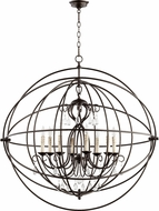 Quorum 6716-8-86 Cilia Modern Oiled Bronze Drop Ceiling Lighting