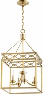 Quorum 6721-4-80 Durand Aged Brass 14  Entryway Light Fixture