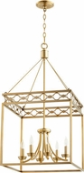 Quorum 6721-6-80 Durand Aged Brass 18  Foyer Lighting