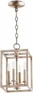 Quorum 6731-4-160 Cuboid Aged Silver Leaf 8  Foyer Lighting Fixture