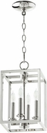 Quorum 6731-4-162 Cuboid Polished Nickel 8  Entryway Light Fixture