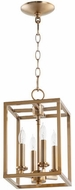 Quorum 6731-4-180 Cuboid Aged Brass 8  Foyer Light Fixture